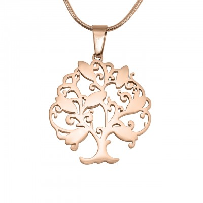 Personalised Tree of My Life Necklace 7 - 18ct Rose Gold Plated - AMAZINGNECKLACE.COM