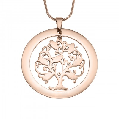 Personalised Tree of My Life Washer 7 - 18ct Rose Gold Plated - AMAZINGNECKLACE.COM