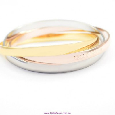 Personalised Mother Daughter Three Tone Bangle Set - AMAZINGNECKLACE.COM