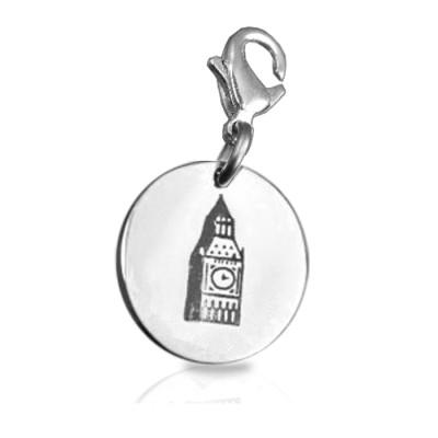Personalised Big Ben Tower Clock Charm - AMAZINGNECKLACE.COM