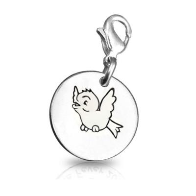 Personalised Bird Charm - AMAZINGNECKLACE.COM