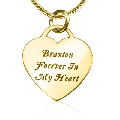 Personalised Forever in My Heart Necklace - 18ct Gold Plated - AMAZINGNECKLACE.COM