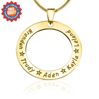 Personalised Circle of Trust Necklace - 18ct Gold Plated - AMAZINGNECKLACE.COM