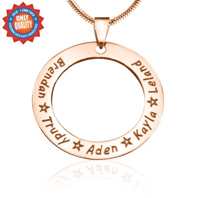 Personalised Circle of Trust Necklace - 18ct Rose Gold Plated - AMAZINGNECKLACE.COM