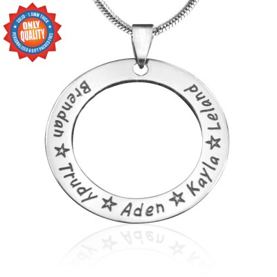 Personalised Circle of Trust Necklace - Sterling Silver - AMAZINGNECKLACE.COM