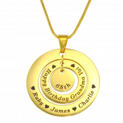 Personalised Circles of Love Necklace - 18ct GOLD Plated - AMAZINGNECKLACE.COM