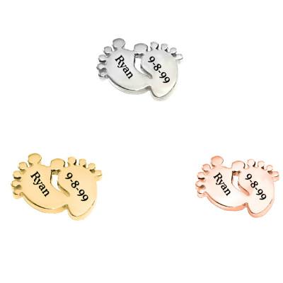 Personalised Feet Charm - Dream Locket - AMAZINGNECKLACE.COM