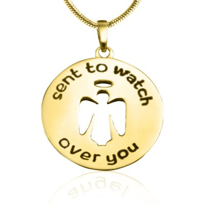 Personalised Guardian Angel Necklace 2 - 18ct Gold Plated - AMAZINGNECKLACE.COM