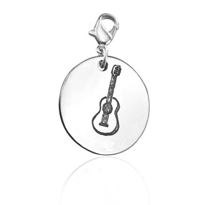 Personalised Guitar Charm - AMAZINGNECKLACE.COM