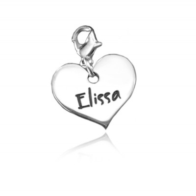 Personalised Heart Charm - AMAZINGNECKLACE.COM