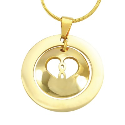 Personalised Infinity Dome Necklace - 18ct Gold Plated - AMAZINGNECKLACE.COM
