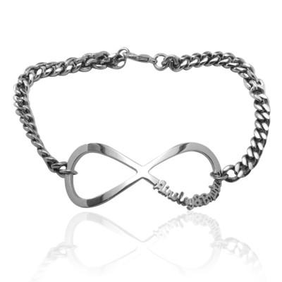 Personalised Infinity Name Bracelet/Anklet - Sterling Silver - AMAZINGNECKLACE.COM