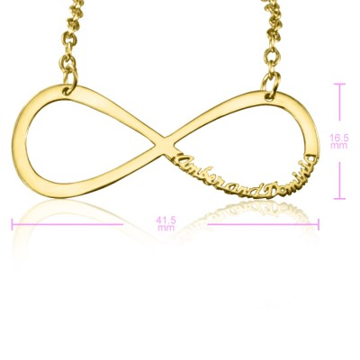 Personalised Classic Infinity Name Necklace - 18ct Gold Plated - AMAZINGNECKLACE.COM