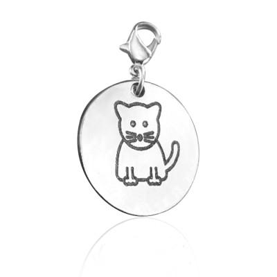 Personalised Kitty Charm - AMAZINGNECKLACE.COM