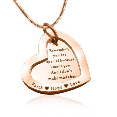 Personalised Love Forever Necklace - 18ct Rose Gold Plated - AMAZINGNECKLACE.COM