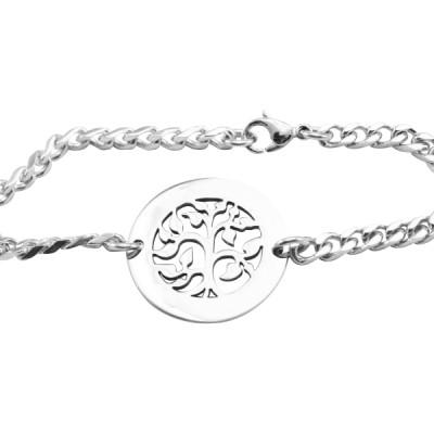 Personalised My Tree Bracelet/Anklet - Sterling Silver - AMAZINGNECKLACE.COM