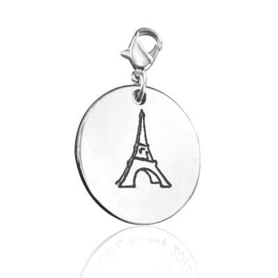 Personalised Eiffel Tower Charm - AMAZINGNECKLACE.COM
