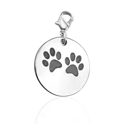 Personalised Paw Prints Charm - AMAZINGNECKLACE.COM