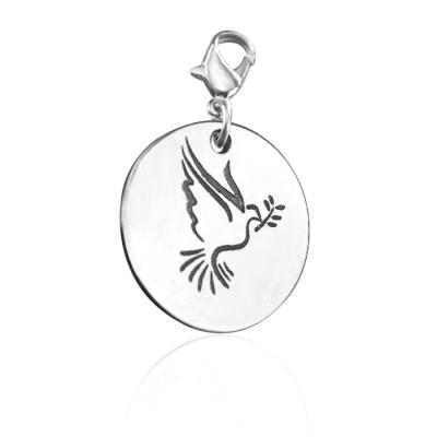 Personalised Peaceful Dove Charm - AMAZINGNECKLACE.COM