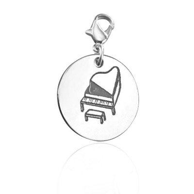 Personalised Piano Charm - AMAZINGNECKLACE.COM