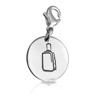 Personalised Suitcase Charm B - AMAZINGNECKLACE.COM
