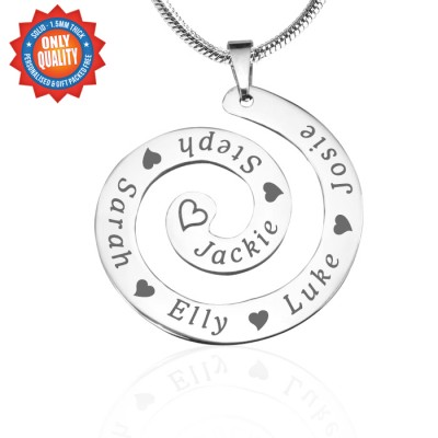Personalised Swirls of Time Necklace - Sterling Silver - AMAZINGNECKLACE.COM