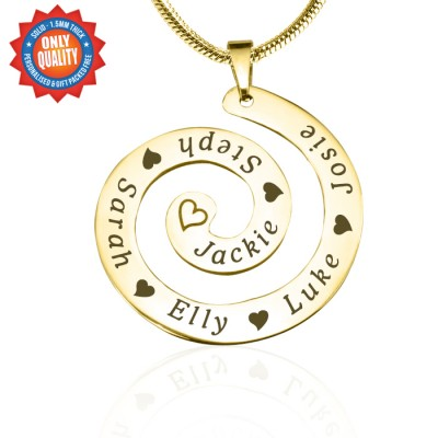 Personalised Swirls of Time Necklace - 18ct Gold Plated - AMAZINGNECKLACE.COM