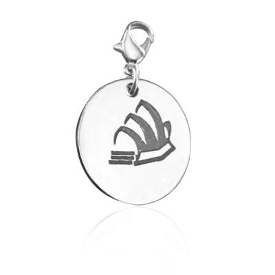 Personalised Sydney Opera House Charm - AMAZINGNECKLACE.COM