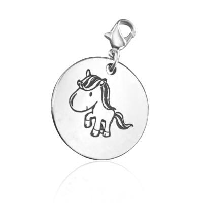 Personalised Unicorn Charm - AMAZINGNECKLACE.COM