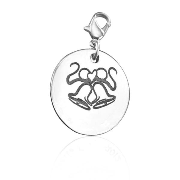 Personalised Wedding Bells Charm - AMAZINGNECKLACE.COM