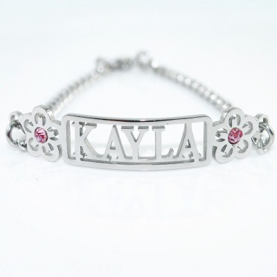Name Personalised Necklace/Bracelet/Anklet - DIY Name Jewellery With Any Elements - AMAZINGNECKLACE.COM
