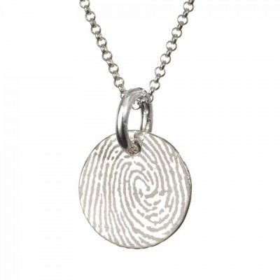 Pattened FingerPrint Circle Pendant - AMAZINGNECKLACE.COM