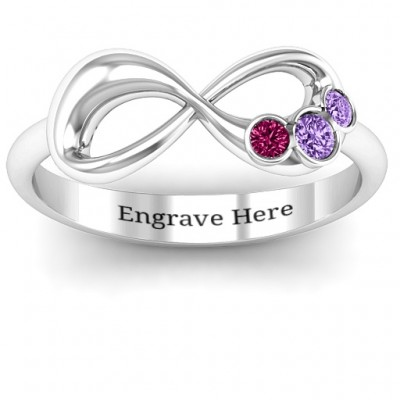 Now and Forever  Infinity Personalised Ring - AMAZINGNECKLACE.COM