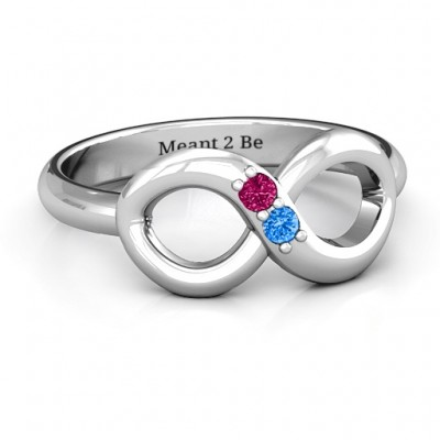 Twosome  Infinity Personalised Ring - AMAZINGNECKLACE.COM
