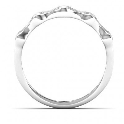 15 Stone Family Wave Personalised Ring  - AMAZINGNECKLACE.COM
