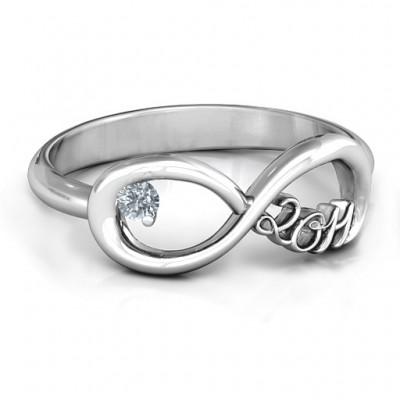 2011 Infinity Personalised Ring - AMAZINGNECKLACE.COM