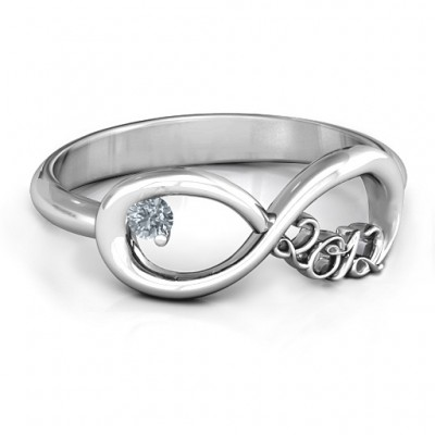 2012 Infinity Personalised Ring - AMAZINGNECKLACE.COM
