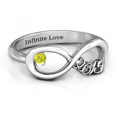 2015 Infinity Personalised Ring - AMAZINGNECKLACE.COM