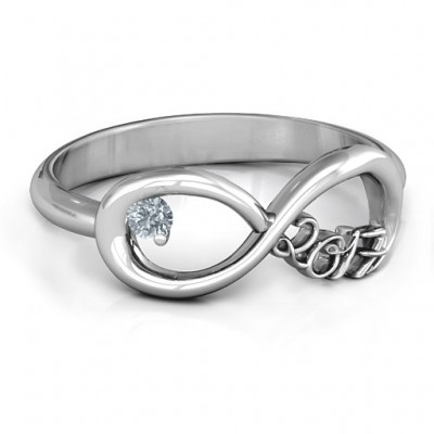 2017 Infinity Personalised Ring - AMAZINGNECKLACE.COM