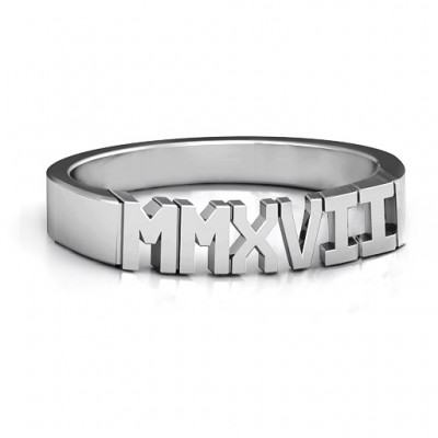 2017 Roman Numeral Graduation Personalised Ring - AMAZINGNECKLACE.COM