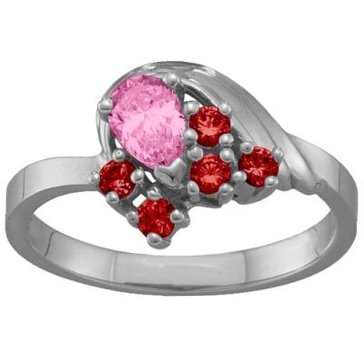 3-9 Stones Swan Personalised Ring  - AMAZINGNECKLACE.COM