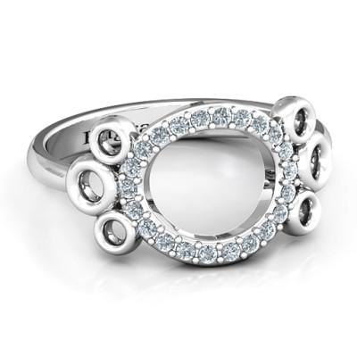 7 Circles Karma Personalised Ring - AMAZINGNECKLACE.COM