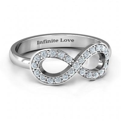 Accented Infinity Personalised Ring - AMAZINGNECKLACE.COM