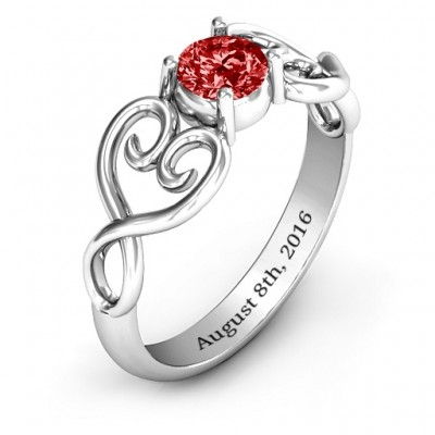 Always In My Heart Promise Personalised Ring - AMAZINGNECKLACE.COM