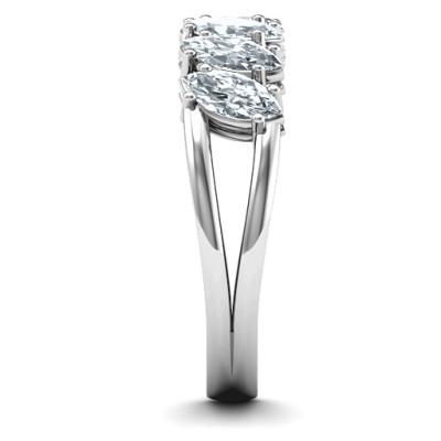 Angled Marquise Personalised Ring - AMAZINGNECKLACE.COM