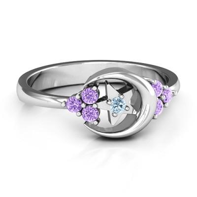Beautiful Night Personalised Ring - AMAZINGNECKLACE.COM