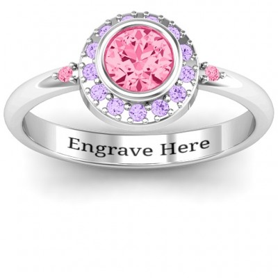 Blooming Round Cluster Personalised Ring - AMAZINGNECKLACE.COM