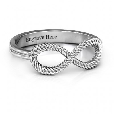 Braided Infinity Personalised Ring - AMAZINGNECKLACE.COM