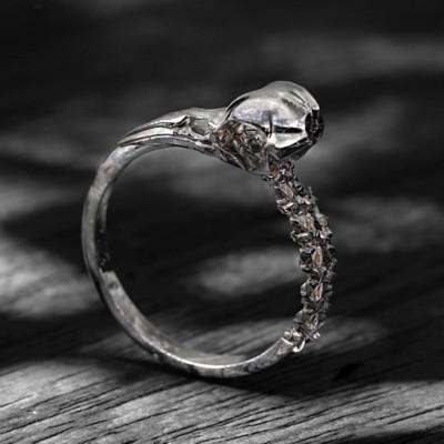 Carmilla - Skull Personalised Ring - AMAZINGNECKLACE.COM