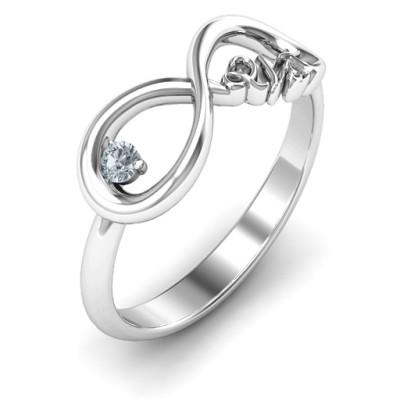 Celebrate 21 Infinity Personalised Ring - AMAZINGNECKLACE.COM